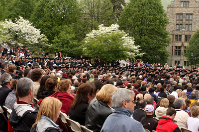 The graduates with their proud families looking on - Chestnut Hill, MA ... May 18, 2009 ... Photo by Rob Page Jr.