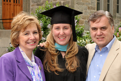 Heather with her proud parents - Chestnut Hill, MA ... May 18, 2009 ... Photo by Rob Page III