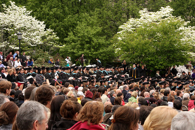 The graduates and their proud families - Chestnut Hill, MA ... May 18, 2009 ... Photo by Rob Page Jr.