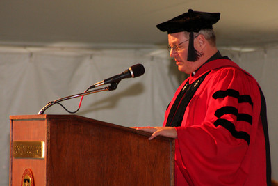 One of the deans speaks at the awards ceremony - Chestnut Hill, MA ... May 17, 2009 ... Photo by Rob Page Jr.