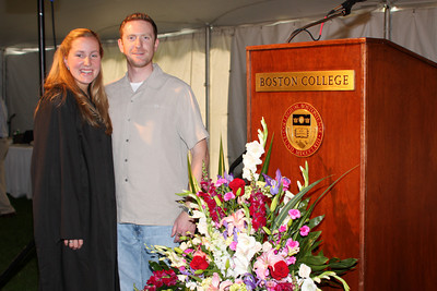 Heather and John at Heather's award ceremony - Chestnut Hill, MA ... May 17, 2009 ... Photo by Rob Page Jr.