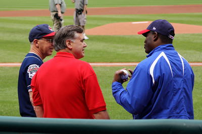 Dad making friends with some of the ballplayers - Cleveland, OH ... July 1, 2009 ... Photo by Heather Page