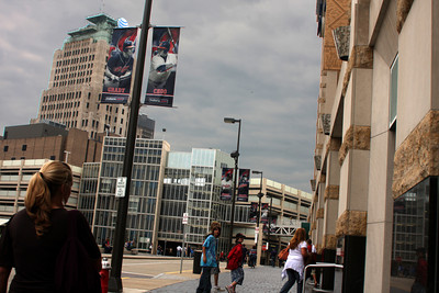Heading to the Indians game - Cleveland, OH ... July 1, 2009 ... Photo by Bob Page Jr.