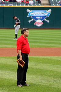 Dad on Progressive Field - Cleveland, OH ... July 1, 2009 ... Photo by Heather Page