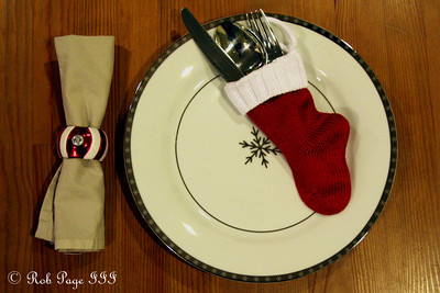 Emily's lovely place setting - Washington, DC ... November 15, 2009 ... Photo by Rob Page III