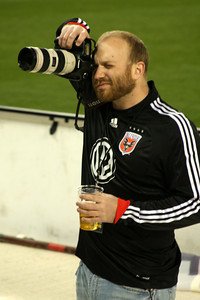 Working hard at the DC United-FC Dallas game - Washington, DC ... April 22, 2009 ... Photo by Rob Page III