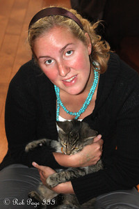 Heather with her cat Roxi - Ottawa, ON ... September 27, 2009 .. Photo by Rob Page III