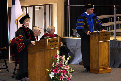 The deans speak at Muskingum College's graduation - Muskingum, OH ... May 9, 2009 ... Photo by Rob Page Jr.