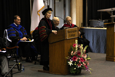 The dean speaks at Muskingum College's graduation ceremony - Muskingum, OH ... May 9, 2009 ... Photo by Rob Page Jr.