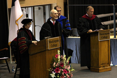 The deans and dignitaries speak at Masashi's commencement - Muskingum, OH ... May 9, 2009 ... Photo by Rob Page Jr.