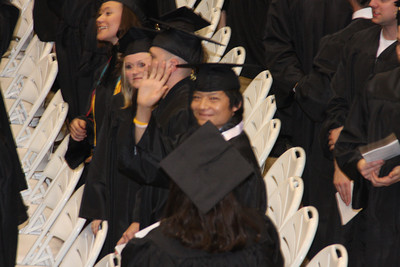 Masashi gets ready to receive his diploma - Muskingum, OH ... May 9, 2009 ... Photo by Rob Page Jr.