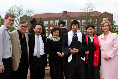 Masashi's graduation with Rob, Bob, takuro, Yuko, Masashi, Emma, and Joyce - Muskingum, OH ... May 9, 2009 ... Photo by Emily Page