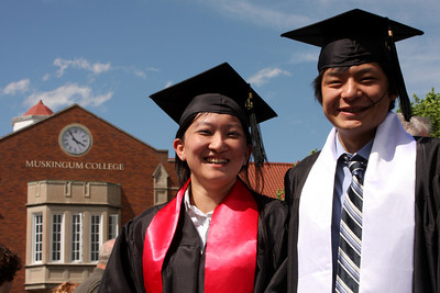 Emma and Masashi the graduates - Muskingum, OH ... May 9, 2009 ... Photo by Rob Page Jr.