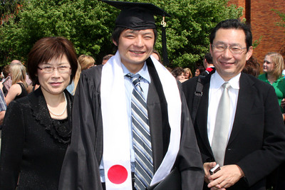 Mama and Papa Kato with Masashi - Muskingum, OH ... May 9, 2009 ... Photo by Rob Page Jr.