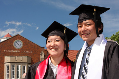 Emma and Masashi the graduates - Muskingum, OH ... May 9, 2009 ... Photo by Rob Page III