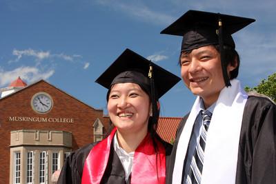 Emma and Masashi the graduates - Muskingum, OH ... May 9, 2009 ... Photo by Rob Page III