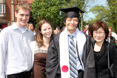 Rob, Emily, Masashi, and Mama Kato - Muskingum, OH ... May 9, 2009 ... Photo by Rob Page Jr.
