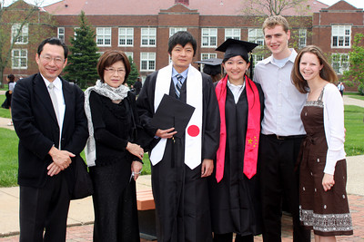 Takura, Yuko, Masashi, Emma, Rob, and Emily at Masashi's graduation - Muskingum, OH ... May 9, 2009 ... Photo by Rob Page Jr.