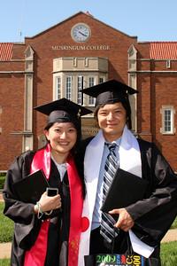 Emma and Masashi the graduates - Muskingum, OH ... May 9, 2009 ... Photo by Rob Page Jr.