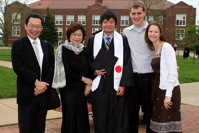 Takuro Kato, Yuko Kato, Masashi Kato, Rob, and Emily at Masashi's graduation - Muskingum, OH ... May 9, 2009 ... Photo by Rob Page Jr.