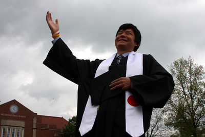 Masashi before his graduation ceremony - Muskingum, OH ... May 9, 2009 ... Photo by Rob Page Jr.