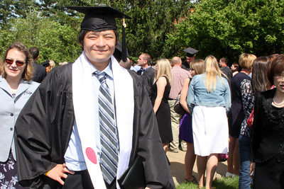 Masashi the graduate - Muskingum, OH ... May 9, 2009 ... Photo by Rob Page Jr.