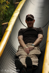 John enjoying the slide - Ottawa, ON ... September 26, 2009 ... Photo by Heather Fairley