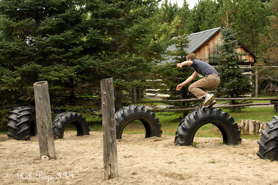 Rob hopping the tires on the course - Ottawa, ON ... September 26, 2009 .. Photo by Heather Fairley