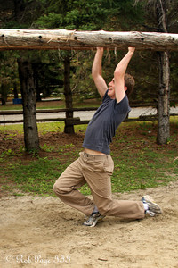 Rob on the monkey bars - Ottawa, ON ... September 26, 2009 .. Photo by Heather Fairley
