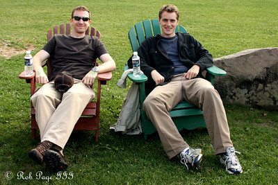 Rob and John relaxing after the race in the maze - Ottawa, ON ... September 26, 2009 ... Photo by Heather Fairley