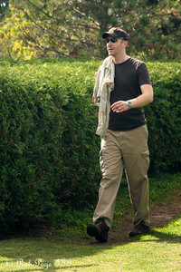 John walking around the mazes - Ottawa, ON ... September 26, 2009 ... Photo by Heather Fairley