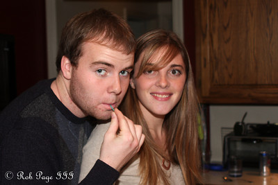 Trey and Kristen enjoying Thanksgiving - Reading, PA ... November 26, 2009