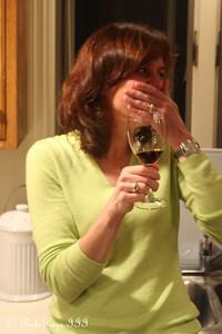 Patti enjoys some wine while preparing dinner - Reading, PA ... November 25, 2009