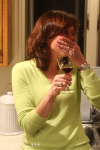 Patti enjoys some wine while preparing dinner - Reading, PA ... November 25, 2009