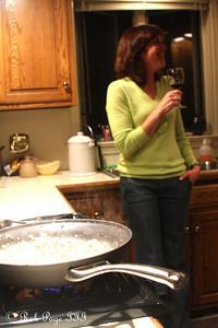 Patti preparing Thanksgiving dinner - Reading, PA ... November 25, 2009