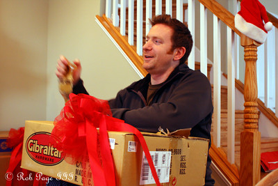 John enjoys Christmas morning - Washington, DC ... December 25, 2010 ... Photo by Rob Page Jr.