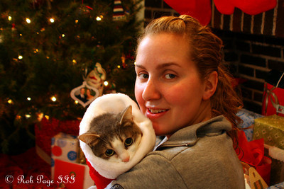 Heather with her kitten - Washington, DC ... December 25, 2010 ... Photo by Rob Page Jr.