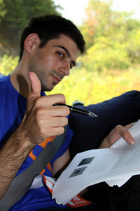 Dante somehow attempts to study - DC Ragnar Relay, MD ... September 24, 2010