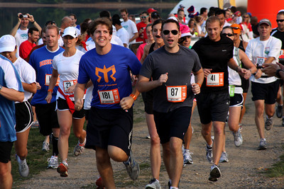 Sam and Dan lead off the relay - DC Ragnar Relay, MD ... September 24, 2010 ... Photo by Rob Page III