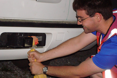 Dermot chokes the chicken before his run - DC Ragnar Relay, MD ... September 24, 2010