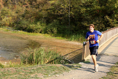 Sam comes in at the end of run - DC Ragnar Relay, MD ... September 24, 2010 ... Photo by Rob Page III