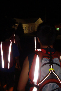 Getting ready for the night runs - DC Ragnar Relay, MD ... September 24, 2010