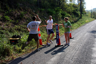 John hands off to Rob at the second exchange - DC Ragnar Relay, MD ... September 24, 2010