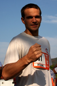 John prepares for his first run - DC Ragnar Relay, MD ... September 24, 2010 ... Photo by Rob Page III