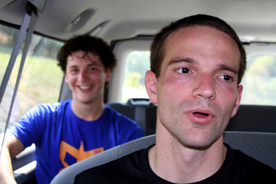John and Dalton relax in the car - DC Ragnar Relay, MD ... September 24, 2010