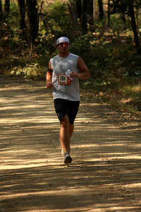 Crecelius runs through the woods - DC Ragnar Relay, MD ... September 24, 2010