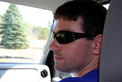 Dermot prepares for his run - DC Ragnar Relay, MD ... September 24, 2010