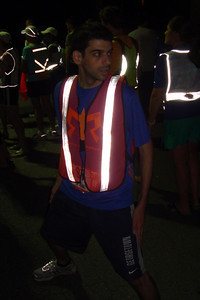 Dante gets ready for his run - DC Ragnar Relay, MD ... September 24, 2010