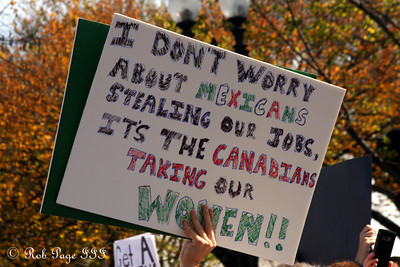 Yeah! What's wrong with those Canadians? - Washington, DC ... October 24, 2010 ... Photo by Rob Page III