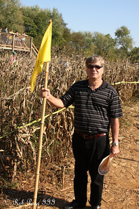 Dad leads the way at the Corn Maze in the Plains - The Plains, VA ... October 10, 2010 ... Photo by Rob Page III